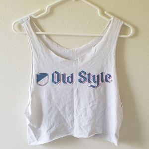 Tops - Old style muscle/crop top